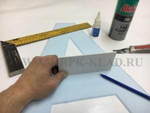 Приклеивание боковой стенки объемной световой буквы